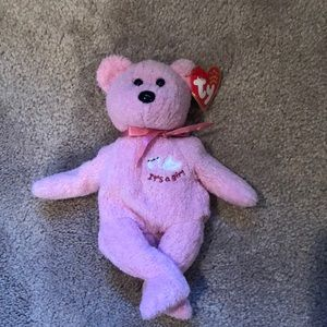 """TY Beanie Baby """"It's a Girl"""" - pink"""